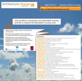 Poster for Architecture for Change Summit 2010
